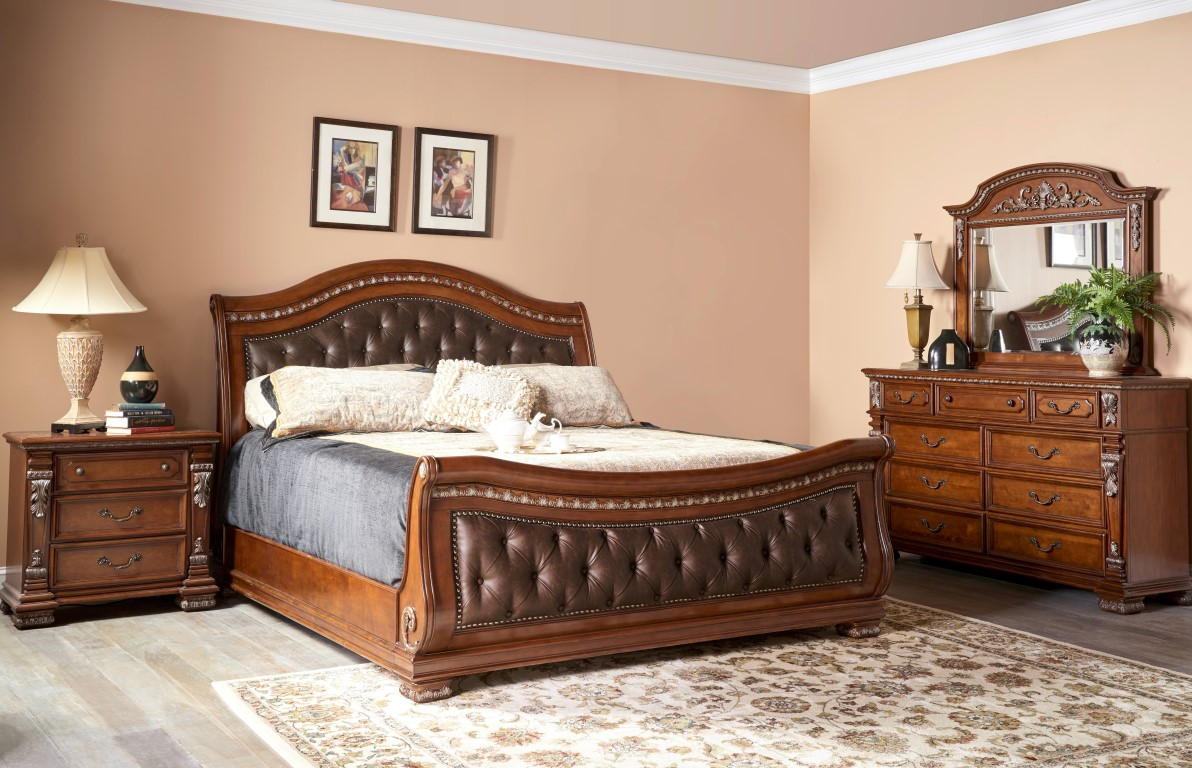 Bedroom Collections | 5545 Orleans | 5545 Orleans Sleigh Bed | Fairfax  Furniture